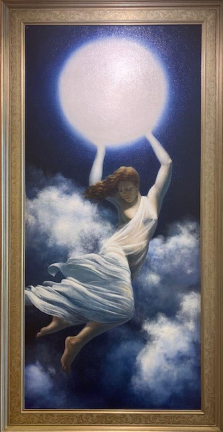 Anthony Ackrill Portrait Painting - Enlighten, Art Deco Goddess
