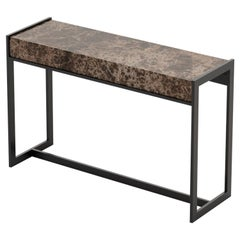 Anthony Console, Portuguese 21st Century Contemporary Console with Marble Top