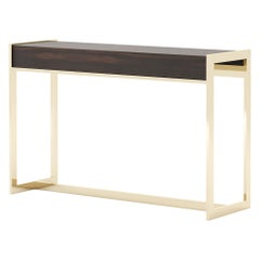 Anthony Console, Portuguese 21st Century Contemporary Console with Wodden Top
