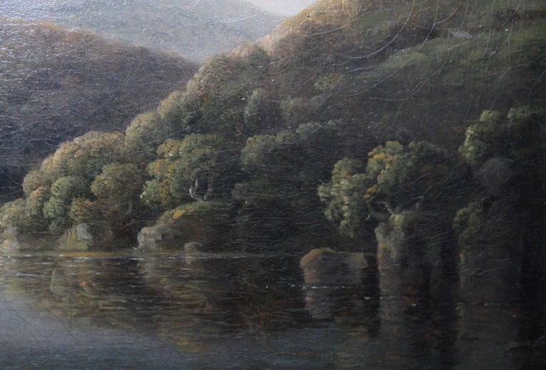 A fine British Old Master landscape oil on canvas painting by Anthony Devis. It depicts the Welsh landscape of the River Neath in Glamorganshire from the Britton Ferry. The painting dates to circa 1790 and is housed in a gallery frame. A fine Old