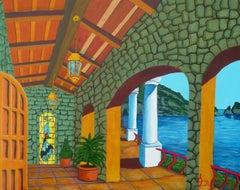Balcony, Painting, Acrylic on Canvas