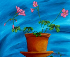 Blooming Lucky, Painting, Acrylic on Canvas