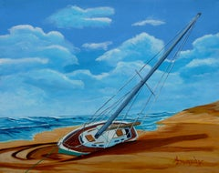 Blown Ashore, Painting, Acrylic on Canvas