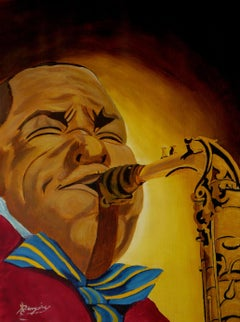 Charlie Parker, Painting, Acrylic on Paper