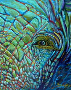 Elephant, Painting, Acrylic on Canvas