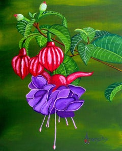 Fuchsia Purple, Painting, Acrylic on Canvas