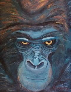Gorilla, Painting, Acrylic on Canvas