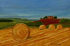 Hay Fields of Provence, Painting, Acrylic on Canvas