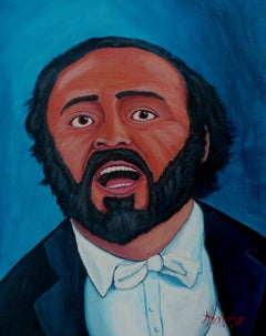 Luciano Pavarotti, Painting, Acrylic on Canvas
