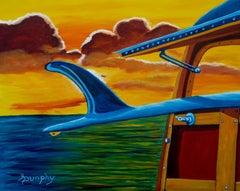 Malibu Sunrise, Painting, Acrylic on Canvas