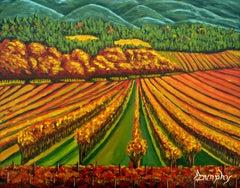 Napa Vineyard, Painting, Acrylic on Canvas