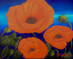 Poppies, Painting, Acrylic on Canvas