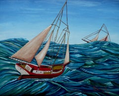 Sail Ho, Painting, Acrylic on Canvas