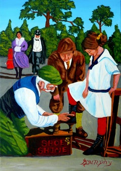 Shoe Shine, Painting, Acrylic on Canvas