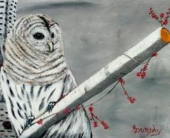 Snowy Owl, Painting, Acrylic on Canvas