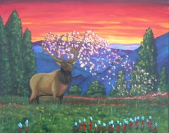 Spring Fantasy, Painting, Acrylic on Canvas