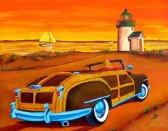 Sunset Beach, Painting, Acrylic on Canvas