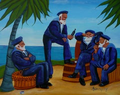Telling Sea Stories, Painting, Acrylic on Paper