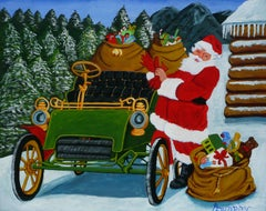 The Christmas Ride, Painting, Acrylic on Paper