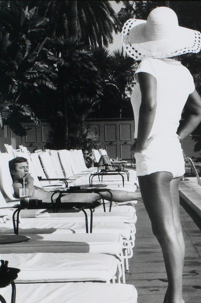 Woman by the Pool - Beverly Hills Hotel, California U.S.A – Anthony Friedkin - Black Black and White Photograph by Anthony Friedkin