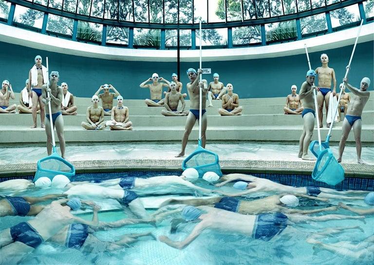 Anthony Goicolea Figurative Photograph - Pool Pushers