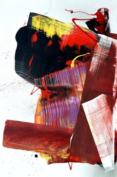 Tokyo Painting, Anthony Hunter, Gloss on Canvas (Abstract Drip Painting)