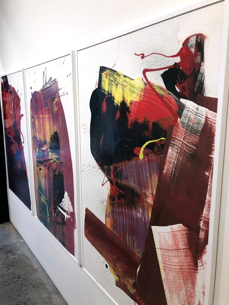Two Out of Three Ain't Bad Painting (Triptych), Anthony Hunter, Gloss on Canvas For Sale 1