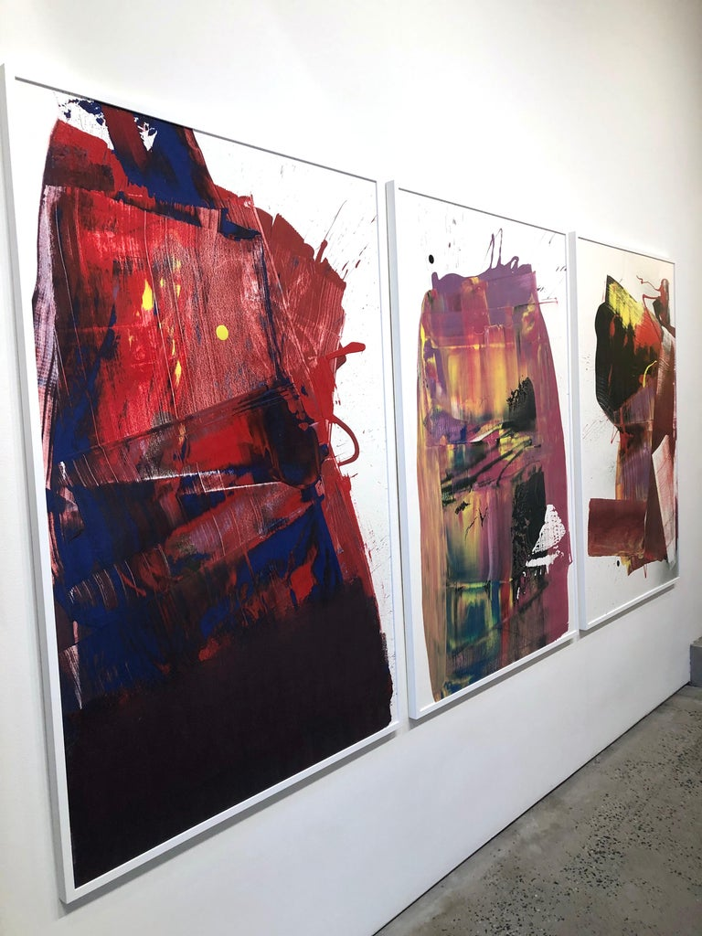 Two Out of Three Ain't Bad Painting (Triptych), Anthony Hunter, Gloss on Canvas For Sale 2