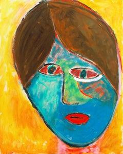'Camille VI', Fauve Figural of Young Woman, California Post Impressionist Oil