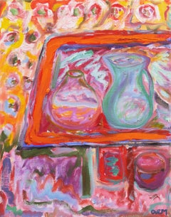 'Still Life with Blue Jug', Contemporary California Expressionist artist