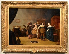 Company Interior Paint Oil on canvas Old master 17th Century Flemish Landscape