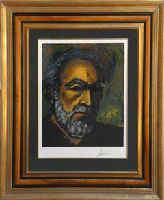 Self-Portrait, Framed Lithograph by Anthony Quinn