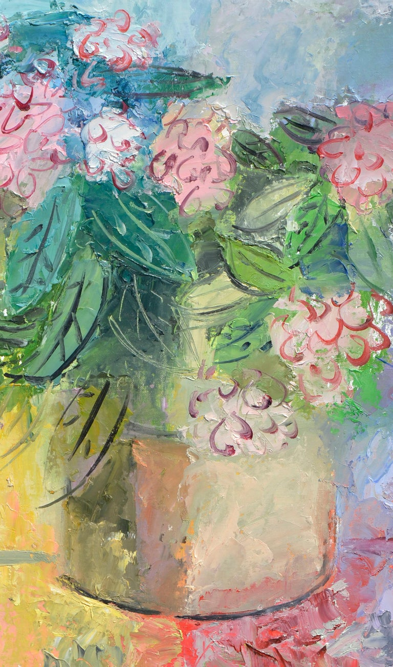 Bright Peony Bouquet - Painting by Anthony Rappa
