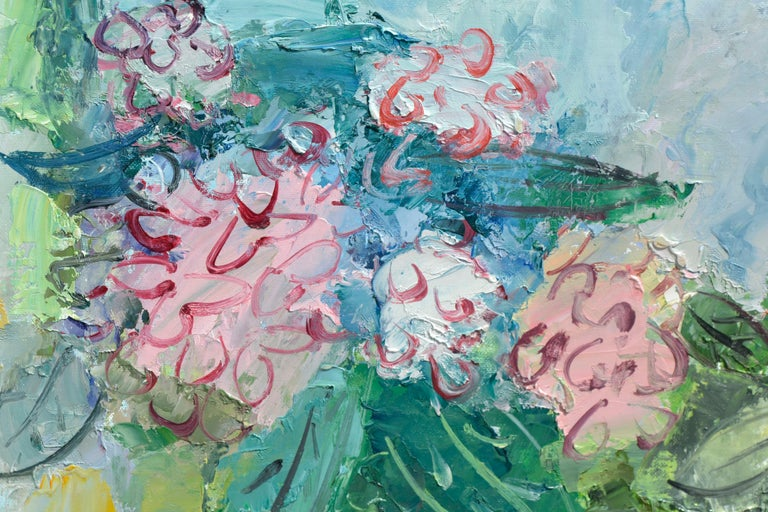 Bright Peony Bouquet - American Impressionist Painting by Anthony Rappa
