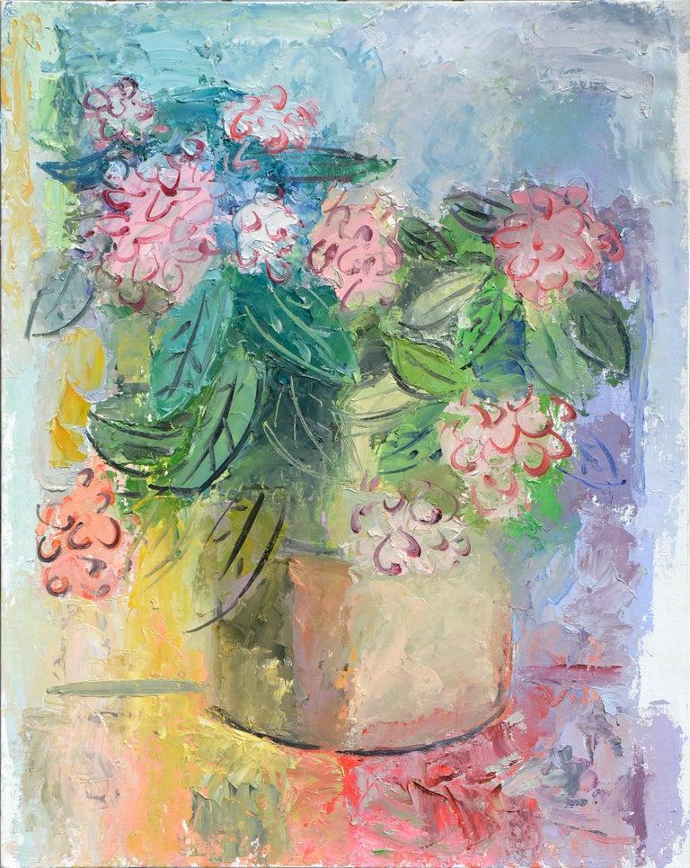 Anthony Rappa Still-Life Painting - Bright Peony Bouquet
