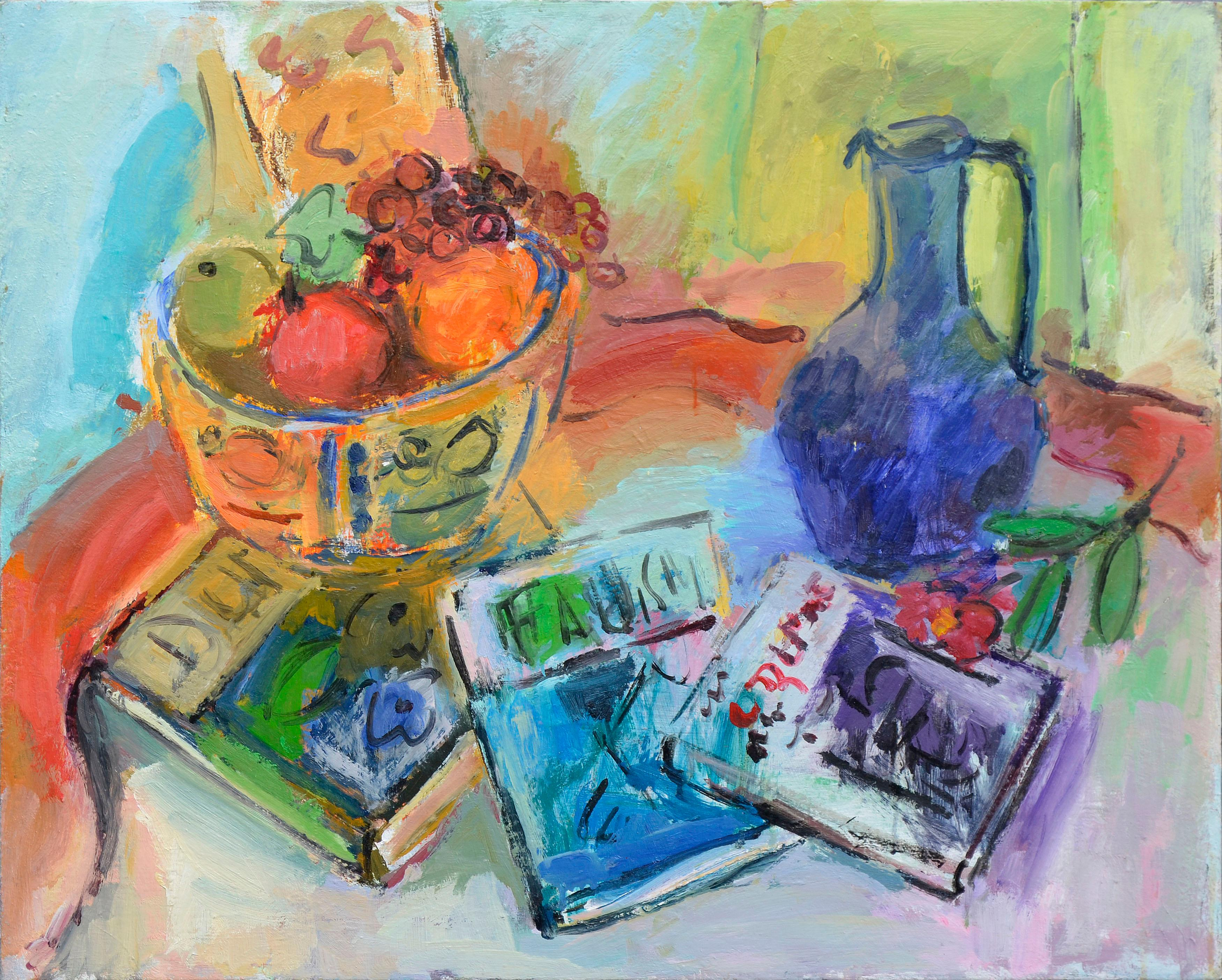 Colorful Fauvist Still Life