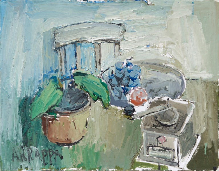 Anthony Rappa Interior Painting - Abstracted Still Life with Coffee Grinder