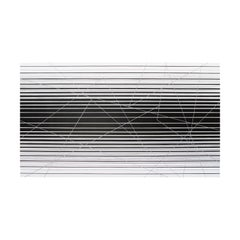 Balance in a Time of Tension Large Grayscale Geometric Op Art Abstract Painting
