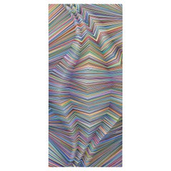 """""""Hypnotic Wave"""" Colorful Contemporary Geometric Op Art Optical Illusion Abstract"""