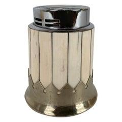 Anthony Redmile Bone Veneer and Nickle Plate Cigarette Lighter