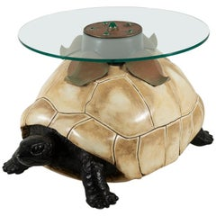 """Anthony Redmile """"Turtle"""" Table with Malachite Cabachons"""