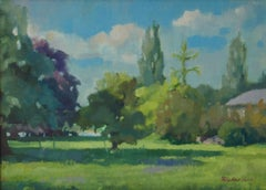 Summer Park - Mid 20th Century Impressionist Oil by Anthony Rickards