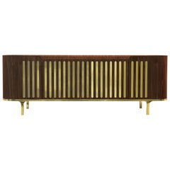 Anthony Sideboard in Wood with Marble and Brass Detail by Essential Home