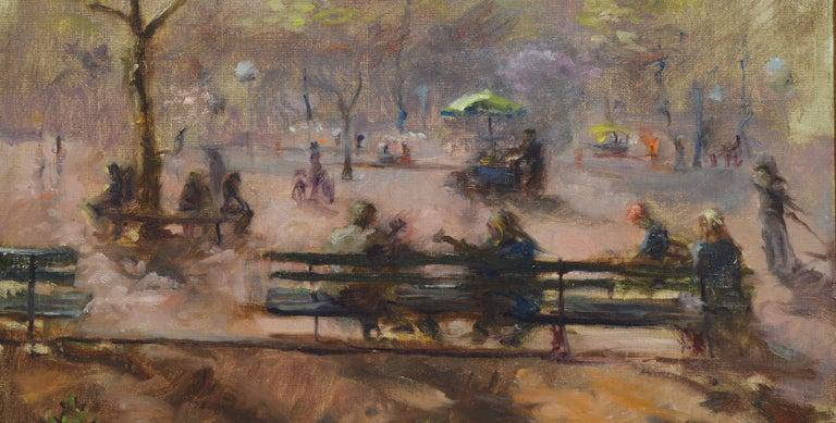 Washington Square Park, Vintage Oil Painting of New York City, Anthony Springer For Sale 2