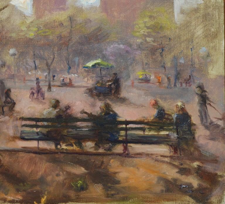 Washington Square Park, Vintage Oil Painting of New York City, Anthony Springer For Sale 3