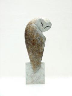 """Bastion"" Contemporary Bronze Sculpture Portrait of an Owl"