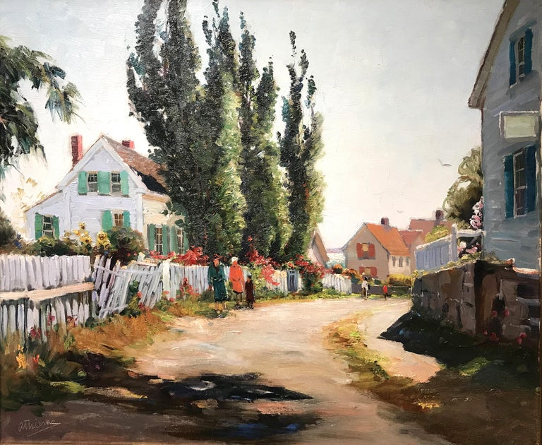 The Other Side of Town - American Impressionist Art by Anthony Thieme