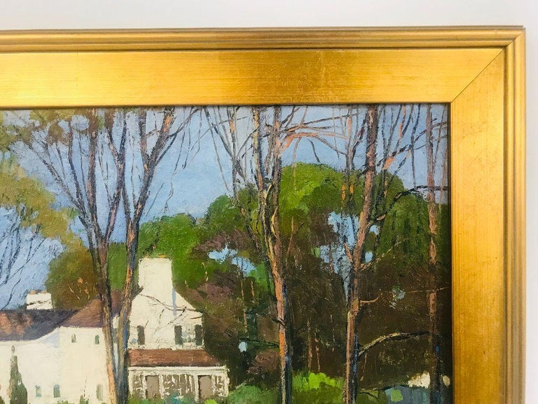Anthony Thieme Rockport Artist Oil on Board of White House For Sale 3