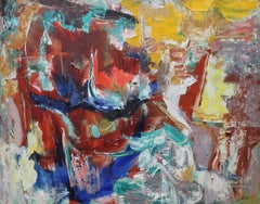 Abstract 1961 - British Australian Art Abstract Expressionist oil painting