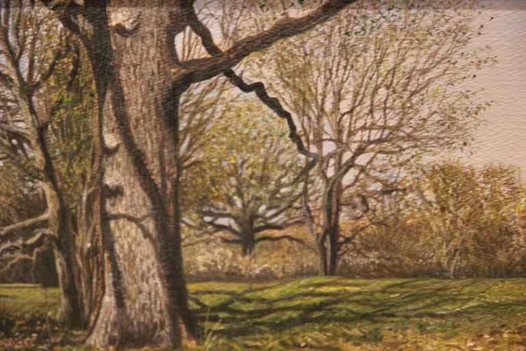 Naturalistic Field with Trees Landscape  - Painting by Anthony V. Martin